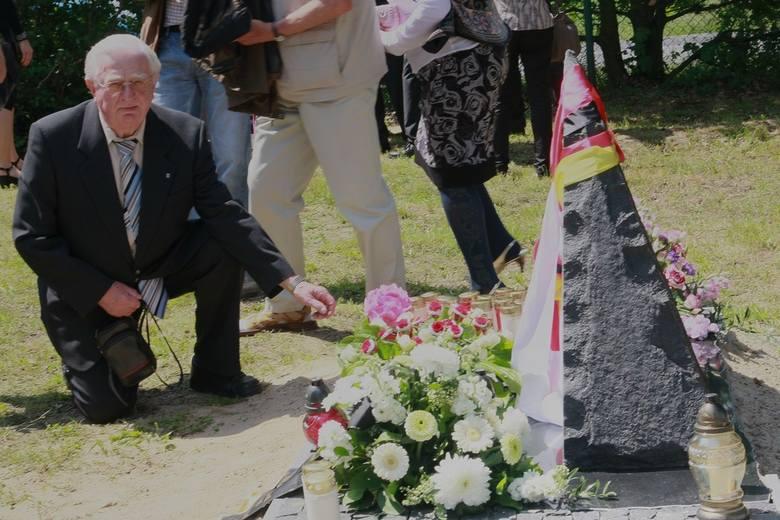 Inicjator postawienia obelisku Helmut Kahl