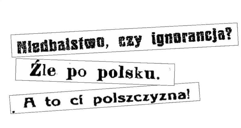 Tytuły z białostockiej prasy z lat 1919 - 1930