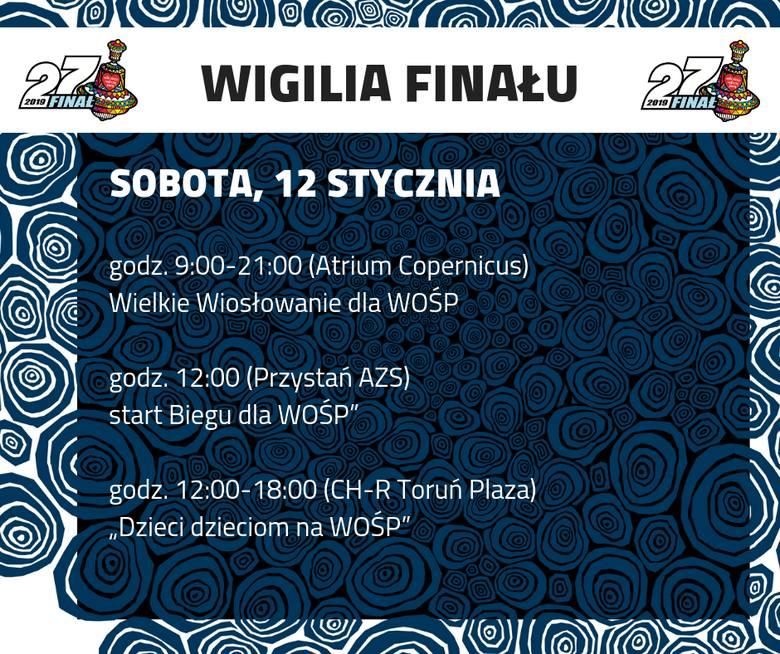 Wydarzenia w ramach tegorocznego finału Wielkiej Orkiestry Świątecznej Pomocy wystartują w Toruniu już w sobotę 12 stycznia. W galerii Atrium Copernicus