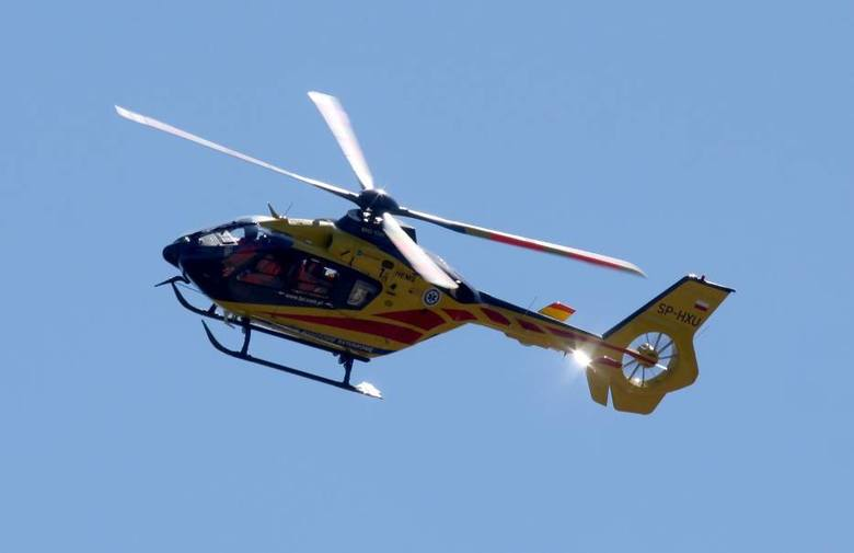 Akcja ratunkowa w Malborku. Interweniowało Lotnicze Pogotowie Ratunkowe