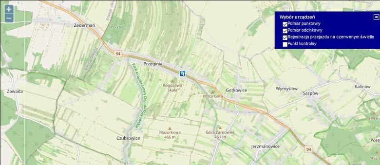 Jerzmanowice-Przeginia, DK 94Pomiar punktowy wykroczeń: 1176średnia wysokość łączna mandatów: 176 400 zł