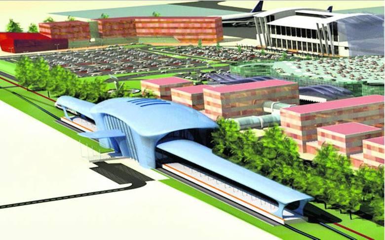 Wizualizacje pokazujące jak ma wyglądać dworzec przy lotnisku w Pyrzowicach