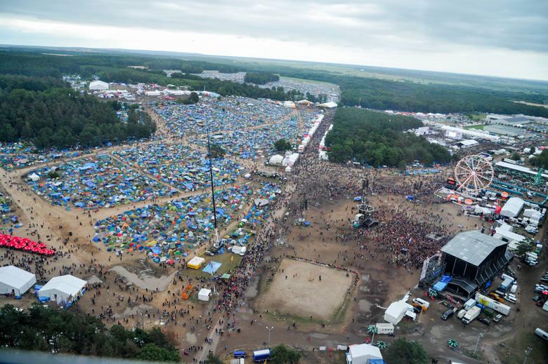 Przystanek Woodstock 2016 z góry! Zobacz niesamowite zdjęcia z lotu ptaka!