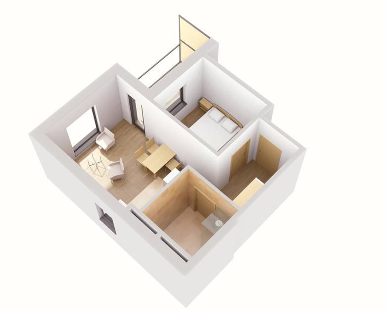 Układ mieszkania dla seniorów.