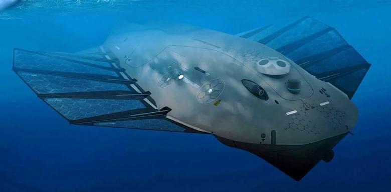 Dzięki pływającym stacjom dokującym - wytwarzającym energię ze słońca i wiatru - bezzałogowe pojazdy NOA będą mogły pozostawać w morzu nawet przez 6