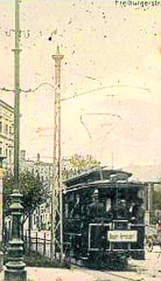 Rok 1898 , przystanek przy ul. Słowackiego.