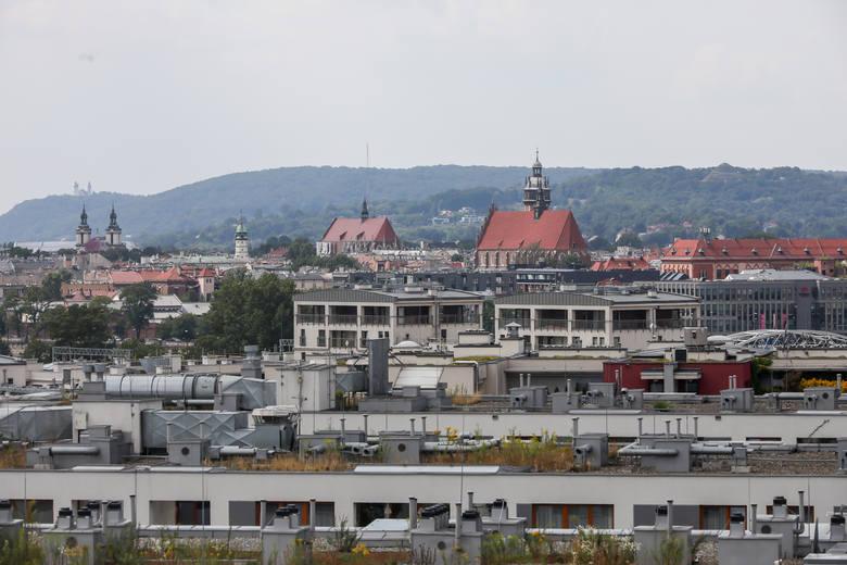 Widok na Kraków z akademika LivinnX