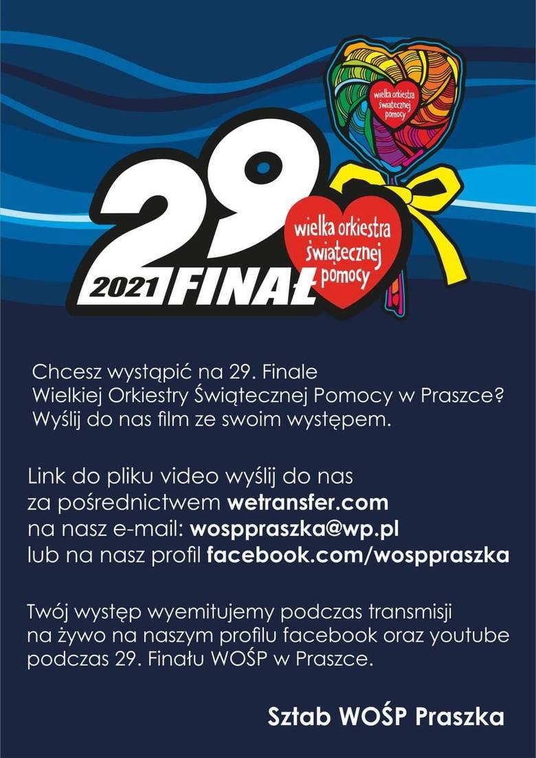 Program 29. finału WOŚP w Praszce
