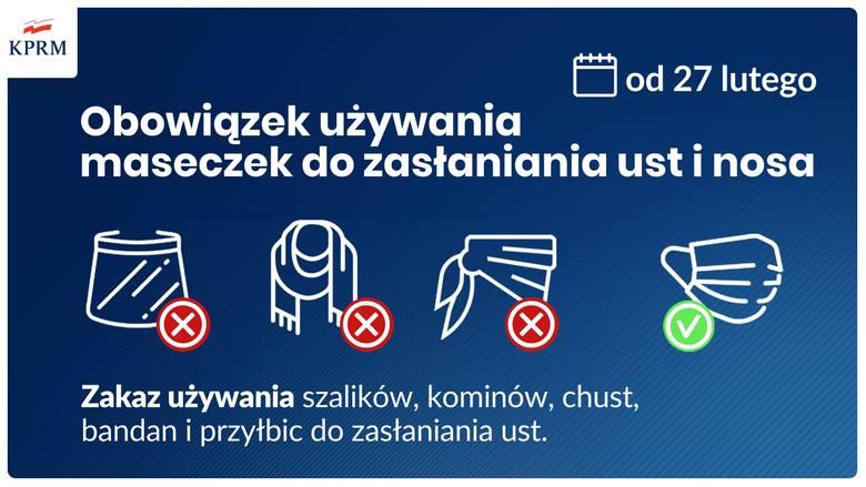 Od soboty w całej Polsce obowiązkowe będą maseczki. Koniec przyłbicami, chustami i szalami