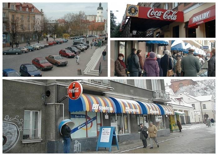 Trudno uwierzyć, że to zdjęcia Białegostoku. Tych sklepów i restauracji już dawno nie ma. Na ulicach polonezy i maluchy. Musicie to zobaczyć. Białystok