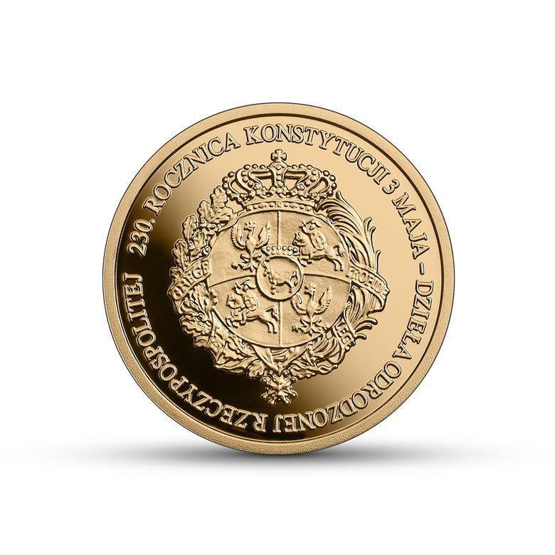 230. rocznicę Konstytucji 3 Maja Narodowy Bank Polski również uczci  dwiema monetami - złotą o nominale 100 zł i srebrną o nominale 50 zł