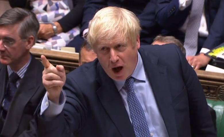 Borys Johnson przemawia w Izbie Lordów