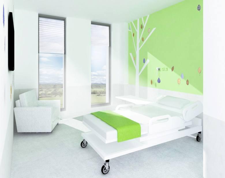 Spółka Industria Project przygotowała także wstępną aranżację wnętrza szpitala. Budynek podzielono na przyjaźnie oznaczone poziomy. Wśród nich: las, kosmos, czy poziom morski. Każda strefa oznaczona jest innym kolorem, a wystrój sal nawiązuje do określonej tematyki.<br />