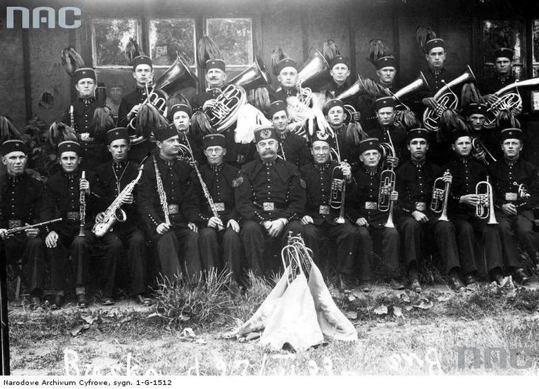 """Orkiestra górnicza z kopalni """"Kazimierz"""" koło Strzemieszyc<br />"""