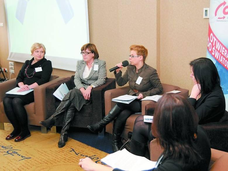 Goście konferencji (od lewej): Helena Cieśluk, Ewa Rybińska, Marta Olszewska i Violetta Weroniecka