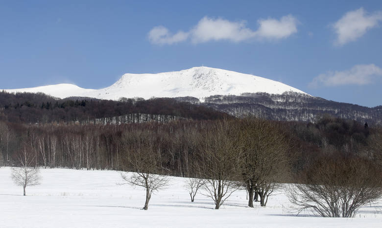 Cudowna, słoneczna pogoda na pierwszy dzień wiosny na Tarnicy. Miłośnicy Bieszczadów dopisali!