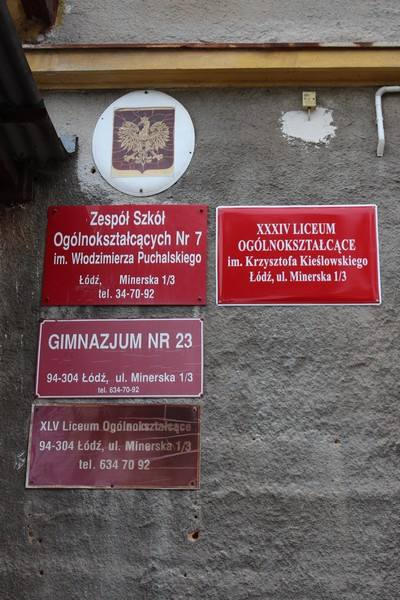 XXXIV Liceum Ogólnokształcące przeniesiono w tym roku do siedziby Zespołu Szkół Ogólnokształcących przy ul. Minerskiej.