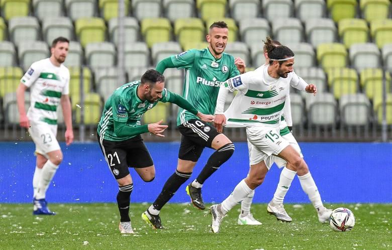 Lechia Gdańsk - Legia Warszawa 25.04.2021 r. Biało-zieloni zagrali defensywnie, a o ofensywie przypomnieli sobie po stracie gola [galeria]