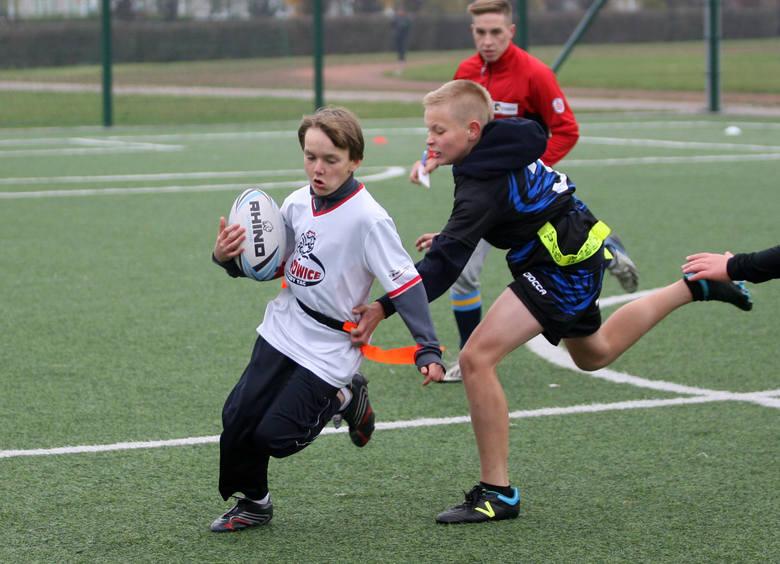 Orlikowa Liga Mistrzów w rugby: Fruwały tagi na sieradzkim Orliku [ZDJĘCIA, WYNIKI]