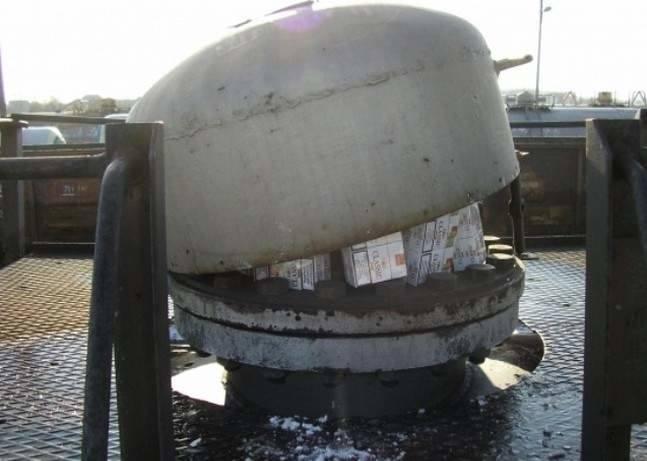 Papierosy ukryte w cysternach na skroplony gaz propan-butan.