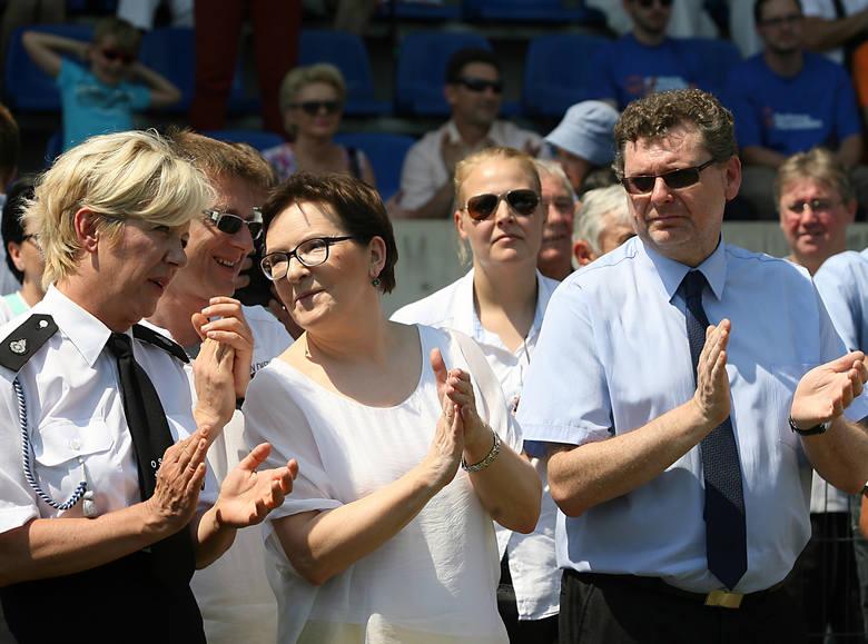 Lipiec 2015 r. Aleksandrów Łódzki. Od lewej: Agnieszka Hanajczyk, Artur Dunin, Ewa Kopacz i Jacek Lipiński