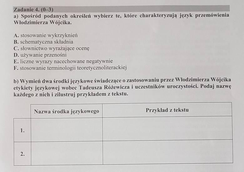 Matura 2018 [POLSKI - PODSTAWA] - odpowiedzi i arkusz pytań CKE w serwisie EDUKACJA [4.05.2018]