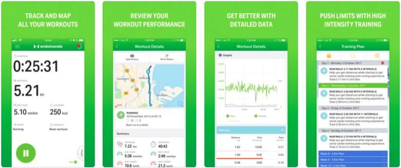 Aplikacja gromadzi dane na temat naszej aktywności fizycznej. Może być połączona z kontami w mediach społecznościowych. Pokazuje przebytą odległość,