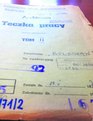 Kolejny TW - Bolesław. Wg IPN to Lech Pilecki