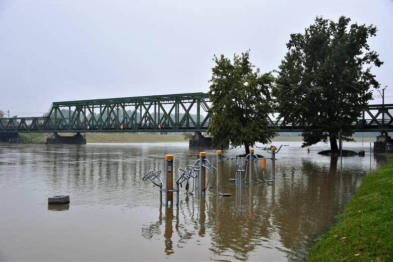Odra w Opolu blisko stanu alarmowego. Wody rzeki zalały część bulwarów i Parku Nadodrzańskiego.
