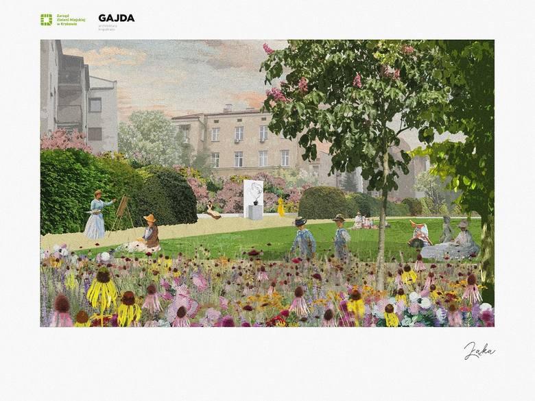 Tak może wyglądać przyszły park przy ul. Karmelickiej - projekt zaprezentowany przez miasto podczas konsultacji społecznych