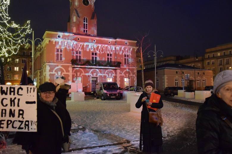 Protest  przeciwko zaostrzeniu prawa do aborcji w Częstochowie ZDJĘCIA