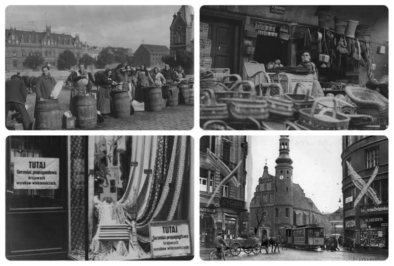 Zobaczcie, jak kiedyś handlowano w Bydgoszczy. Prezentujemy stare zdjęcia straganów, sklepów i szyldów reklamowych. Na zdjęciu handel na rynku w Bydgoszczy