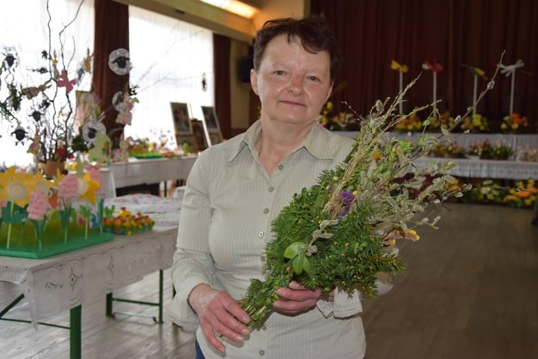 Pani Katarzyna Baran co roku przygotowuje tradycyjną palmę
