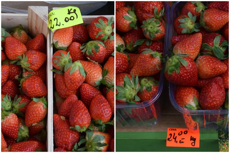 Przymrozki wpływają na wyższe ceny polskich warzyw i truskawek