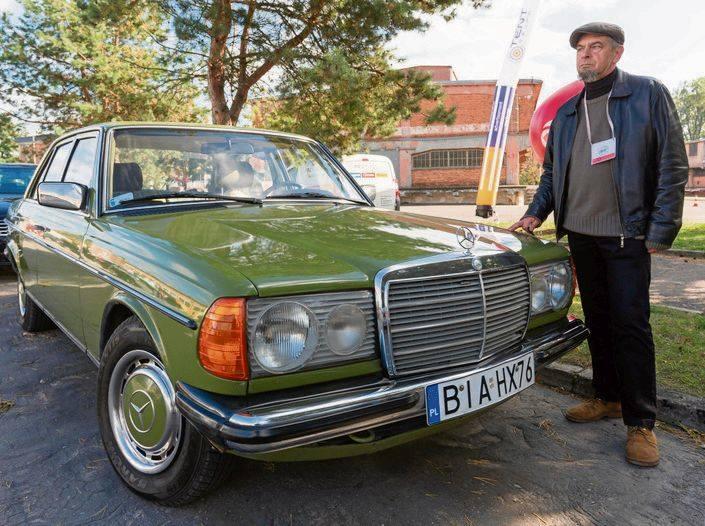 Grzegorz Krupkowski jest właścicielem Mercedesa W 123 już od 6 lat.