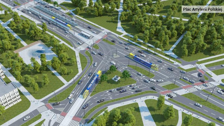 Wizualizacje przebudowanych dróg w centrum Torunia