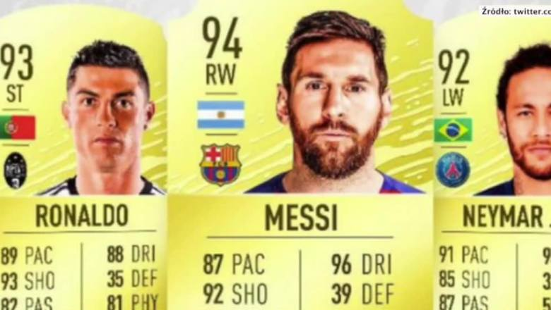 FIFA 20: Messi z najwyższą oceną ogólną w grze, Cristiano Ronaldo za jego plecami