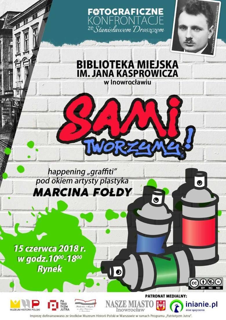 W piątek na Rynku w Inowrocławiu powstanie wielkie graffiti. Weźcie udział w happeningu