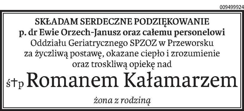 Nekrologi i Kondolencje z dnia 20 grudnia 2019 roku