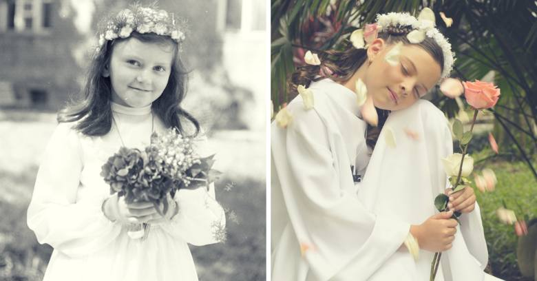 Sukienki komunijne. Jak dawniej wyglądały? Tak ubierano dzieci przystępujące do pierwszej Komunii Świętej 100 lat temu