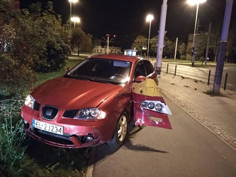 Wypadek na rondzie Lotników Lwowskich w Łodiz