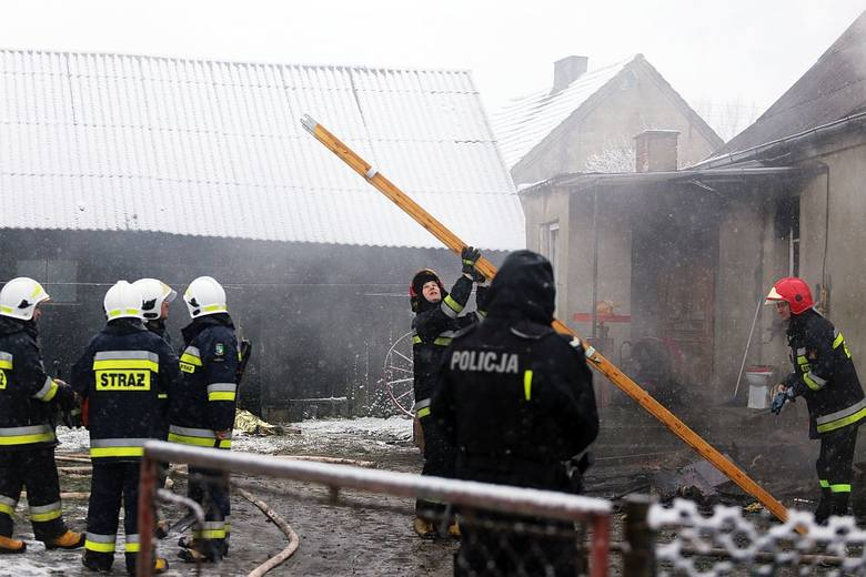 Z pożaru w Burdychowie uratował się mężczyzna, mąż zmarłej kobiety, oraz ich wnuczka
