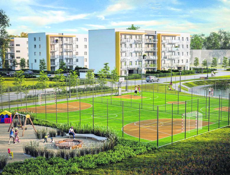 Osiedla na obrzeżach miasta też mają swoich zwolenników - tereny rekreacyjne są tam zaprojektowane z większym rozmachem