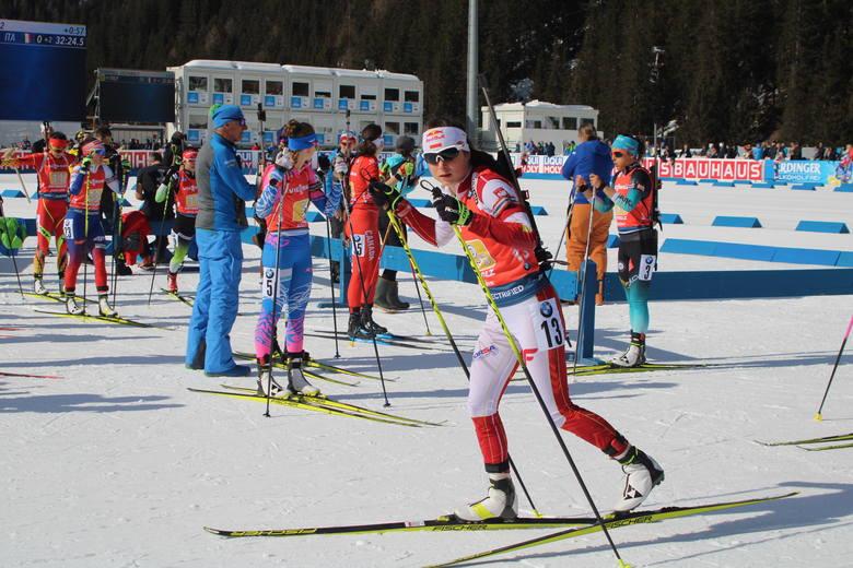 Kamila Żuk przed startem na trzecią zmianę