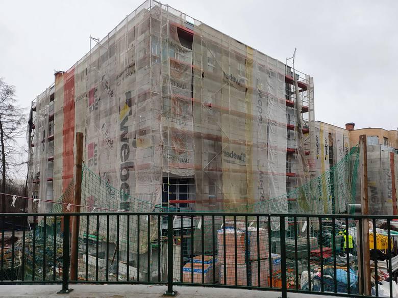 Budowa bloków przy pętli Wieczysta