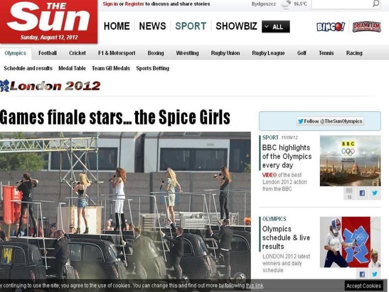 """Dziennikarze brytyjskiego """"The Sun"""" wykonali zdjęcia z pilnie strzeżonej próby przed ceremonią zamknięcia igrzysk. Dzięki temu wiemy"""