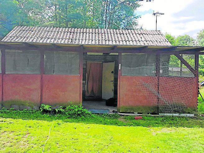 To domek, w którym mieszka para inwalidów.