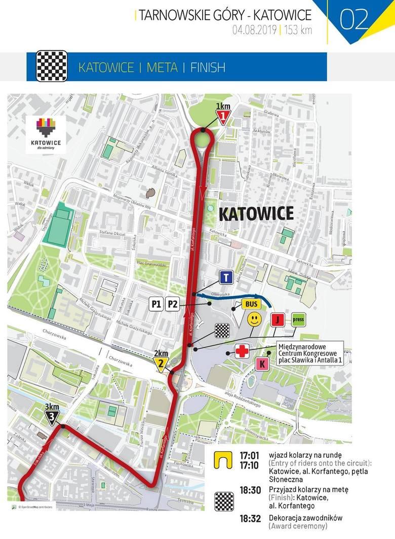 Tour de Pologne 2019: ETAP 2 Tarnowskie Góry - Katowice TRASA ETAPU, MAPA STARTU i METY TdP 2019