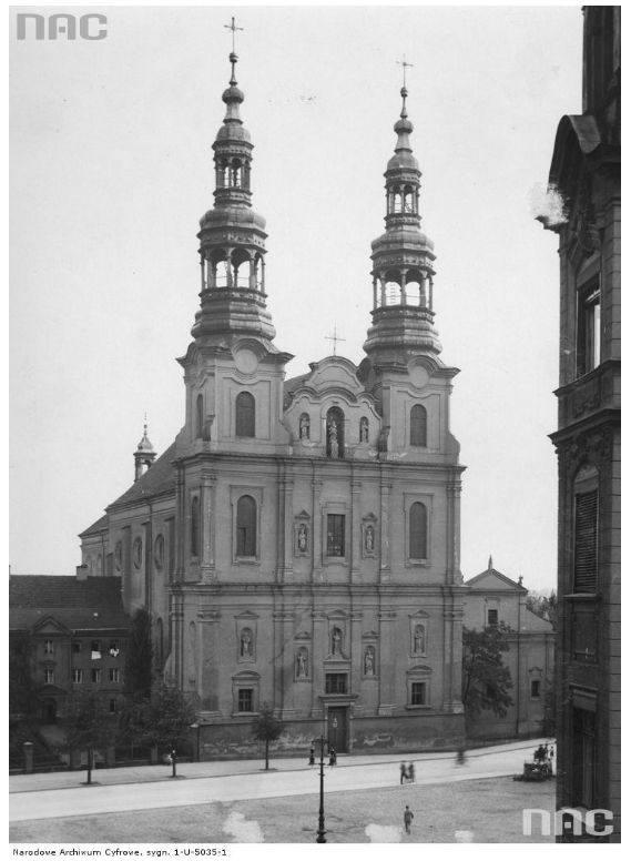 Kościół i klasztor bernardynów przy ulicy Garbary - 1935 rok