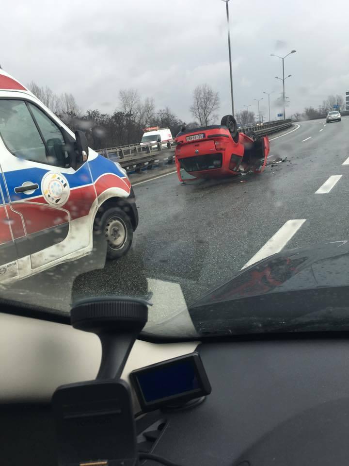 Wypadek na DTŚ w Katowicach przy Silesia City Center